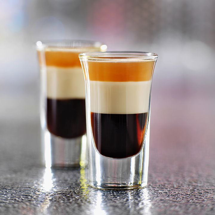two layered B-52 shots served side-by-side