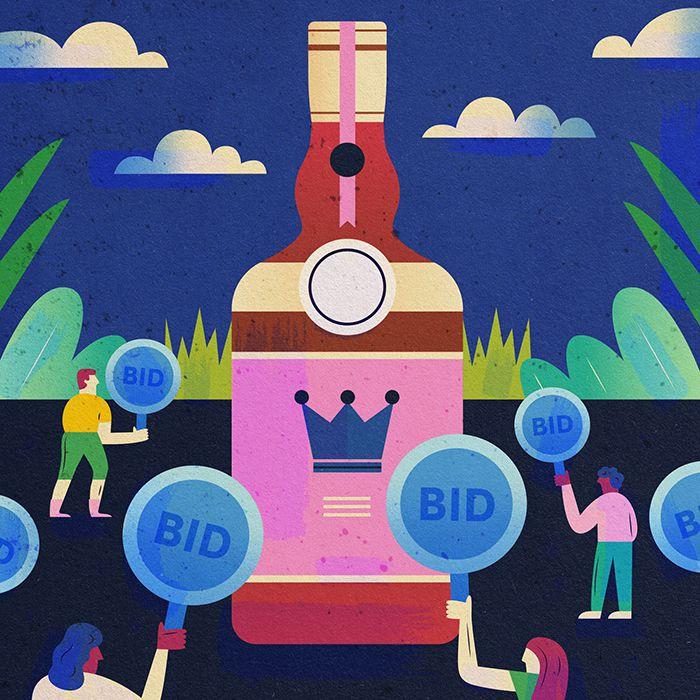 Liquor bottle illustration