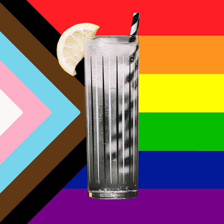 Vodka Soda with Pride flag