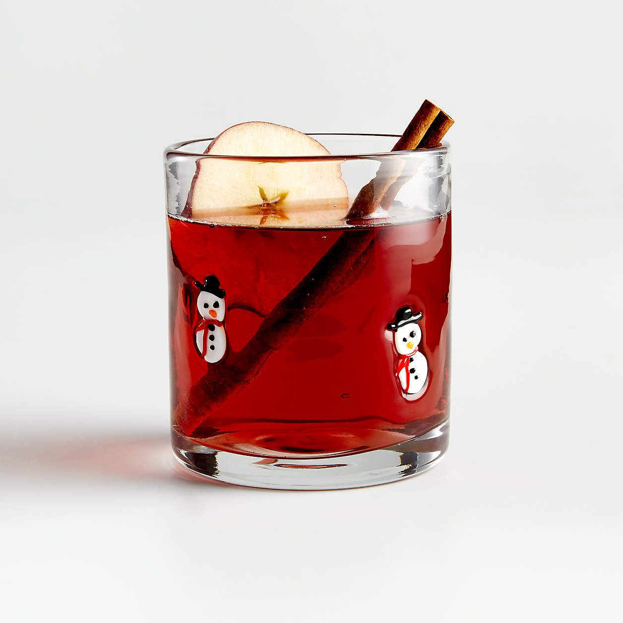 Snowman Double Old-Fashioned Glass