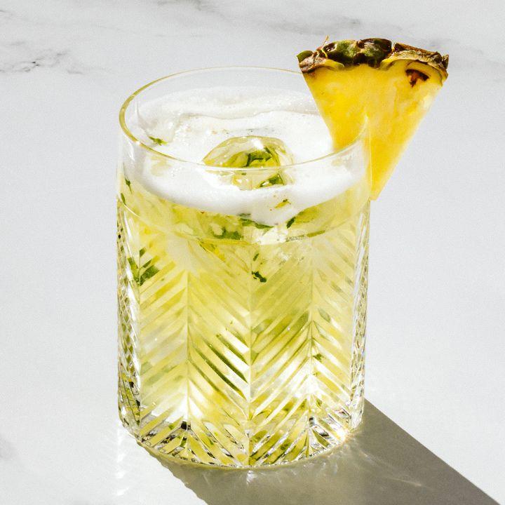 Pineapple Mint Caipirinha
