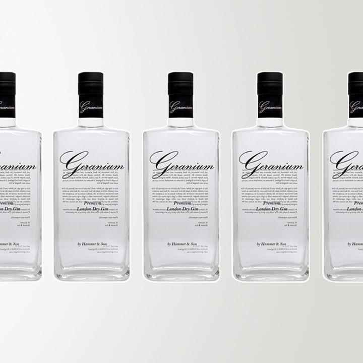 Geranium Gin bottle