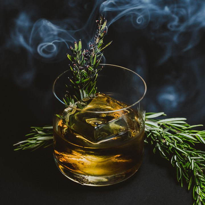 rum & smoke cocktail