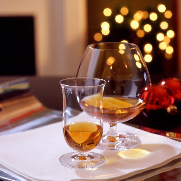 cognac in glasses