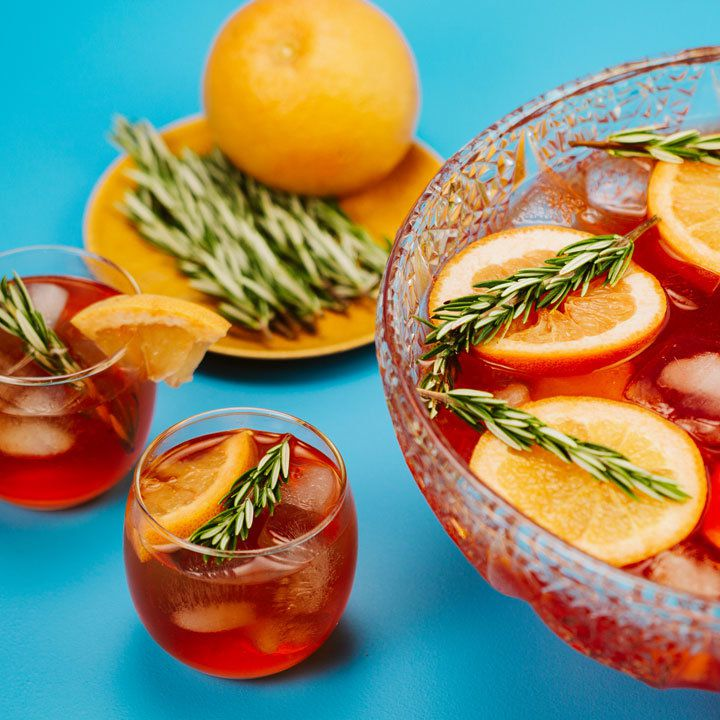 Bourbon Rosemary Punch