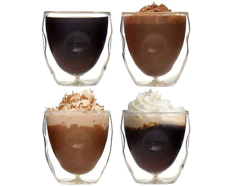 Ozeri Moderna Artisan Series Double Wall Beverage and Espresso Shot Glasses