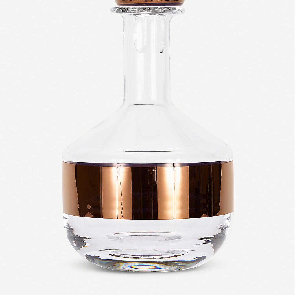 Tom Dixon Tank Decanter with Copper Detailing