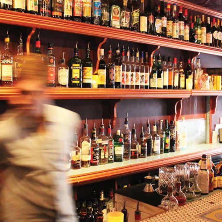 Amor y Amargo back bar