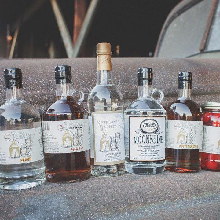 Belmont Farm's lineup of bottles