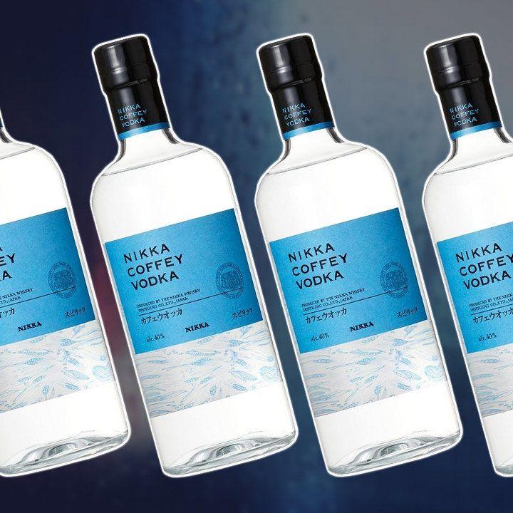 Nikka Coffey Vodka bottles