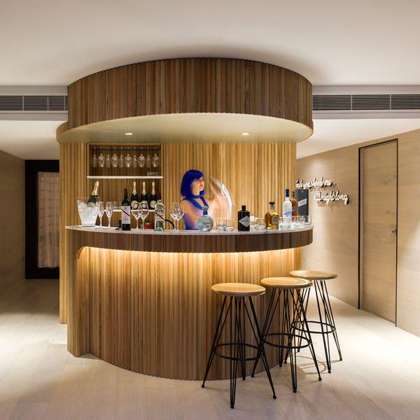 Bar at Ovolo Woolloomooloo Rockstar Suite in Sydney