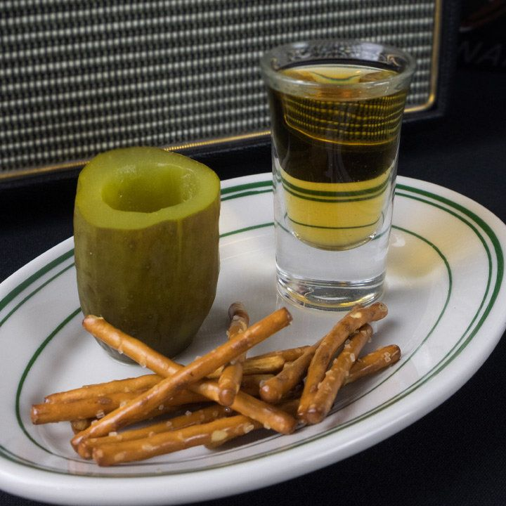 pickleback cocktail at cottonmouth club