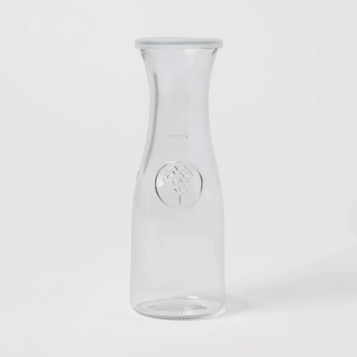 Threshold Small Glass Bistro Carafe with Lid