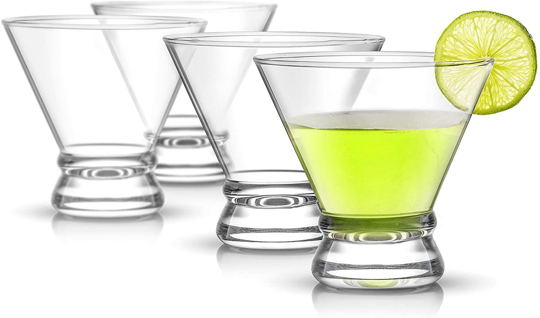 JoyJolt 4-Piece Cocktail Glasses Set