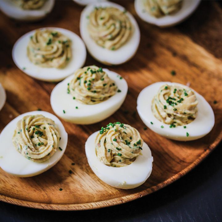 Ham deviled eggs