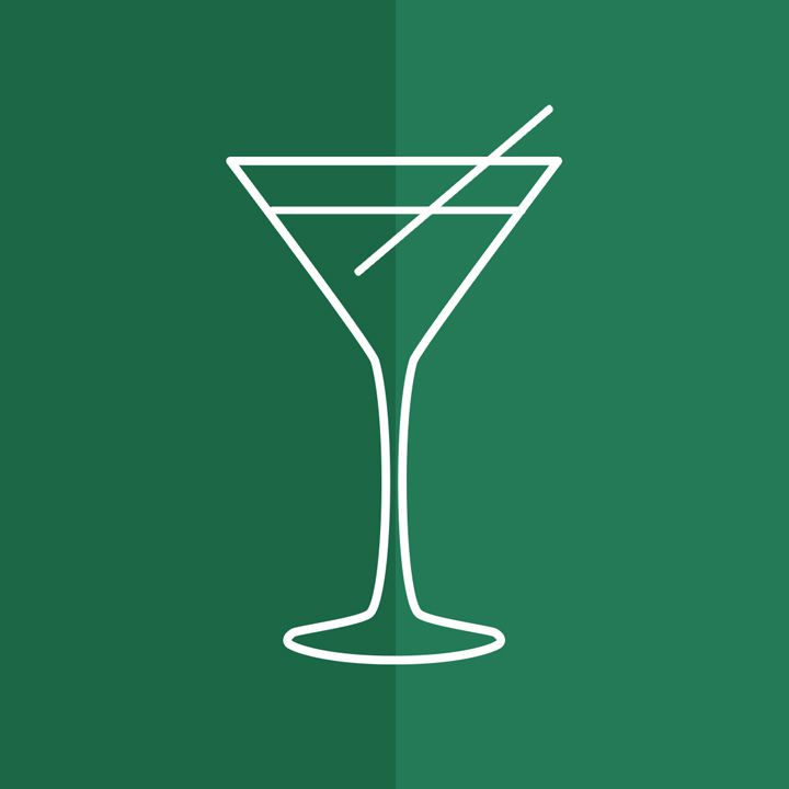 martini glass illustration