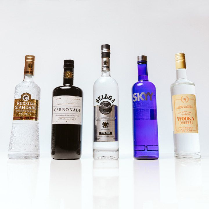 Vodka bottles