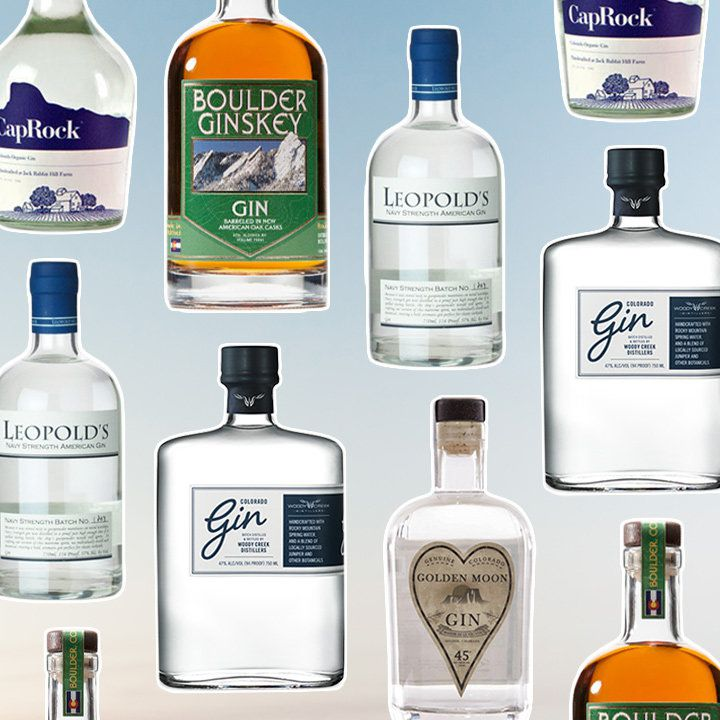 Colorado gin bottles