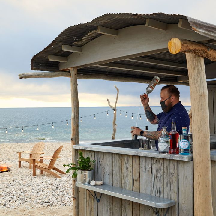 Death & Co's Low Tide Beach Bar at the Sound View hotel in Greenport, N.Y.