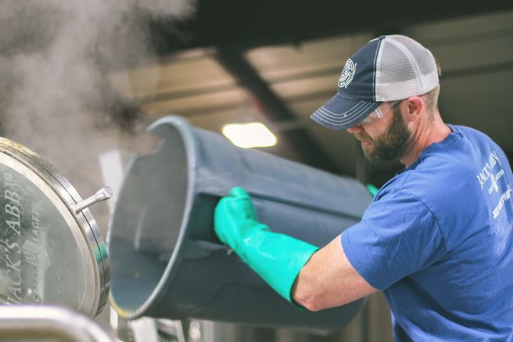 Brewing beer at Jack's Abby