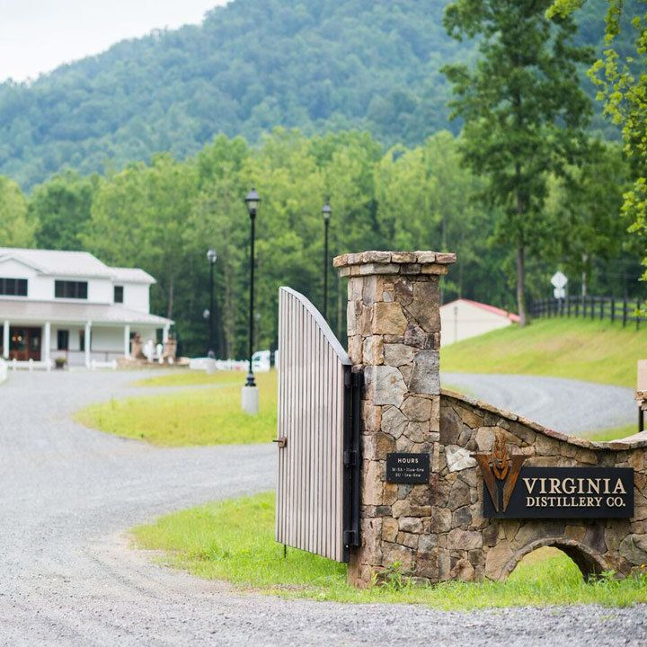 Virginia Distillery Co. exterior with view of gate