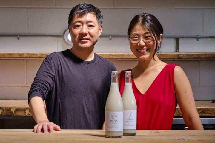 Alice Jun and her business partner, John Limb