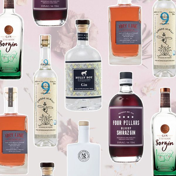 a collage of unusual gins