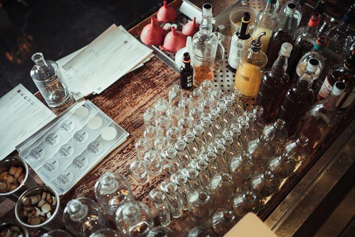 Cocktail prep at The Snug