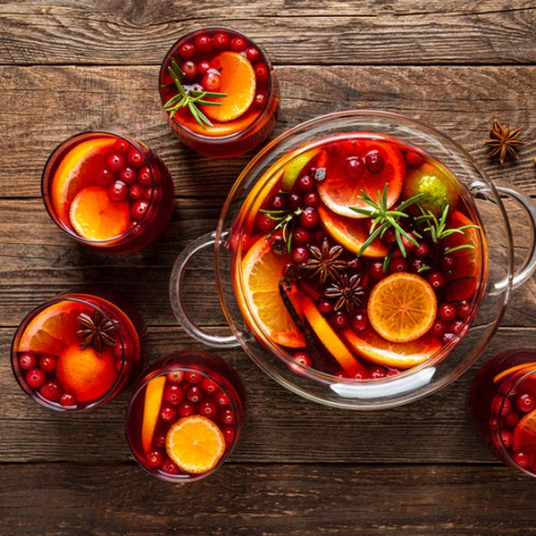 Fruit punch in a bowl