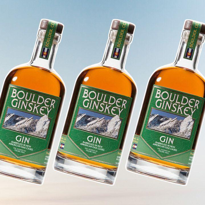 Boulder Ginskey gin bottle