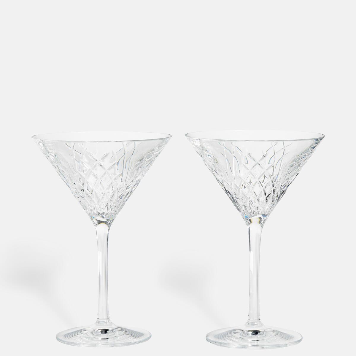 Barwell Cut Martini Glass