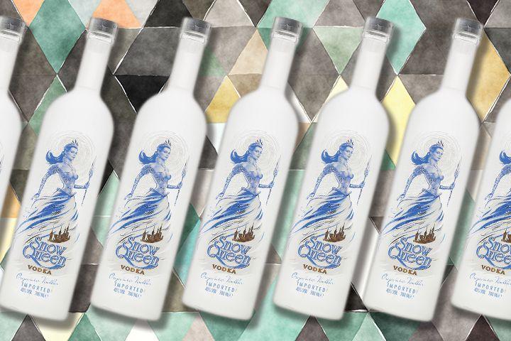 Snow Queen vodka bottles
