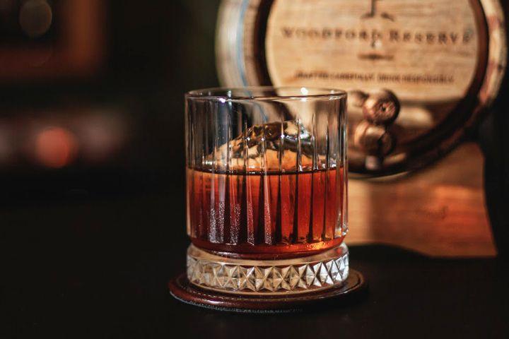 Barrel-aged Manhattan made using fermentation at Mother