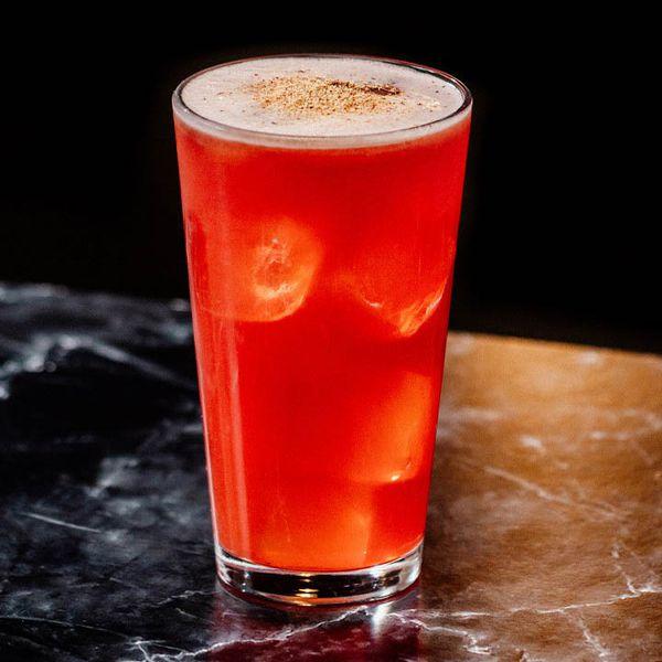Tea & Krampus cocktail