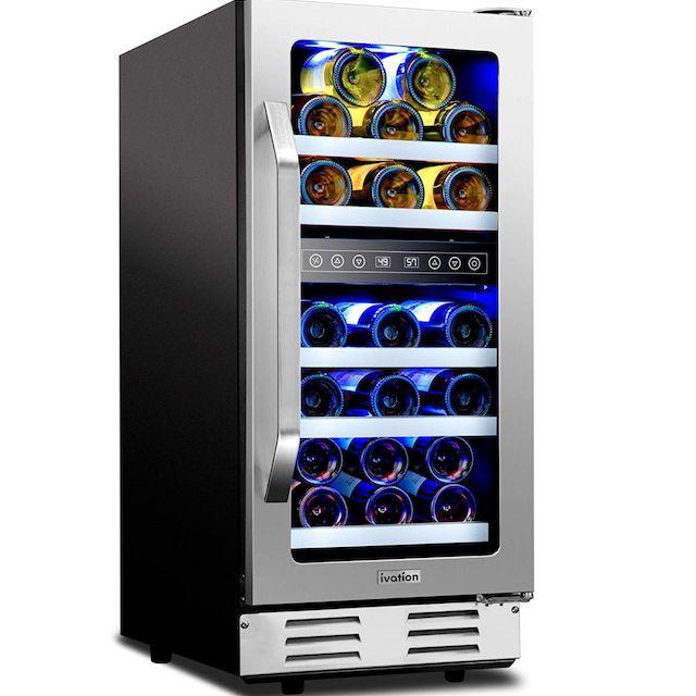 Ivation 31-Bottle Built-In Wine Cooler