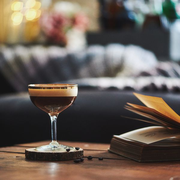 Cocktail and book