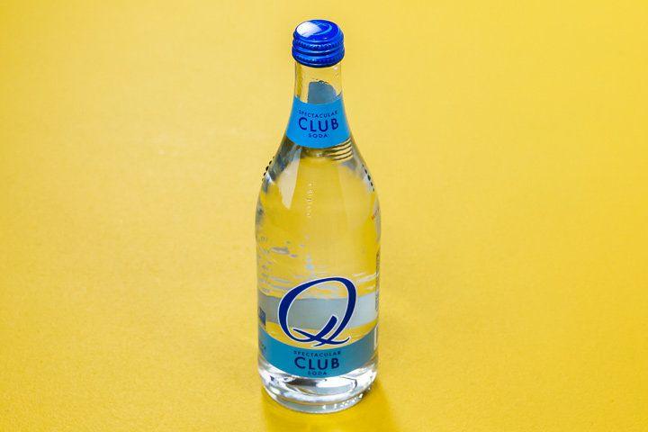 Q Club Soda bottle