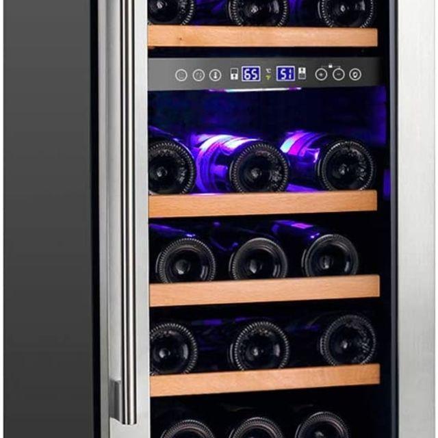 Aobosi Wine Cooler 28-Bottle Wine Refrigerator