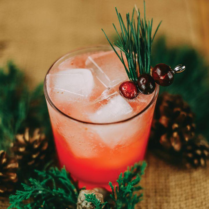 muddled pine cocktail