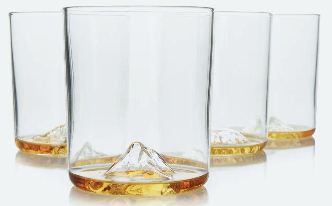 Huckberry's Whiskey Peaks Rocks Glasses