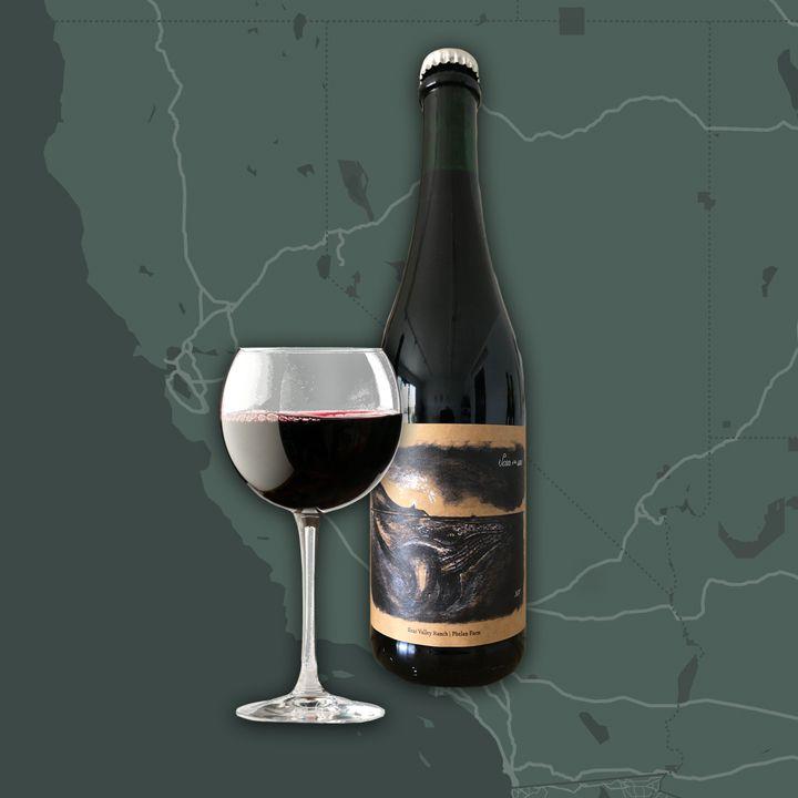 Fruit-grape blend wine