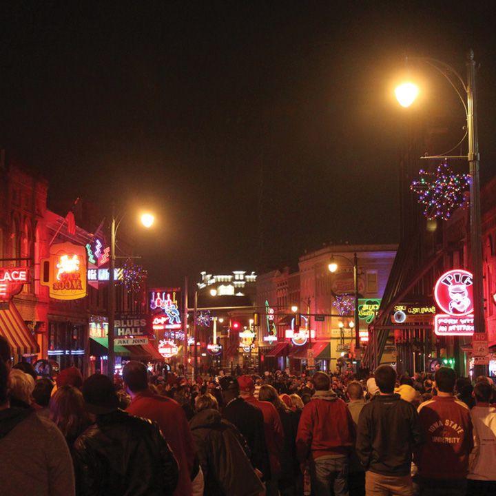 A street scene in Memphis