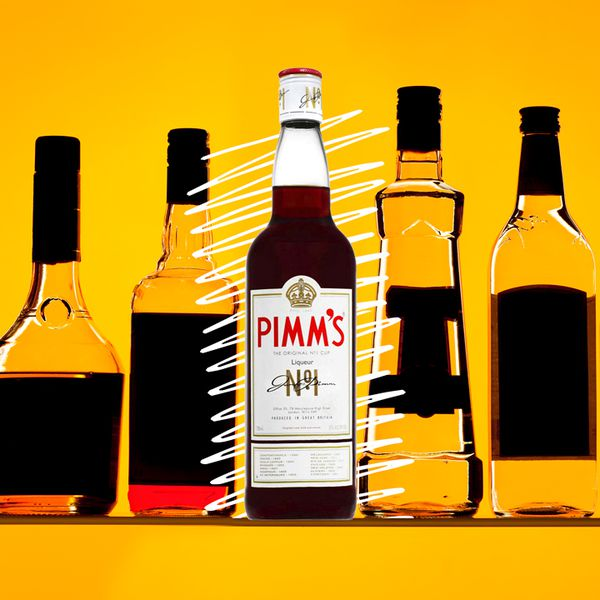 Pimm's bottle illustration