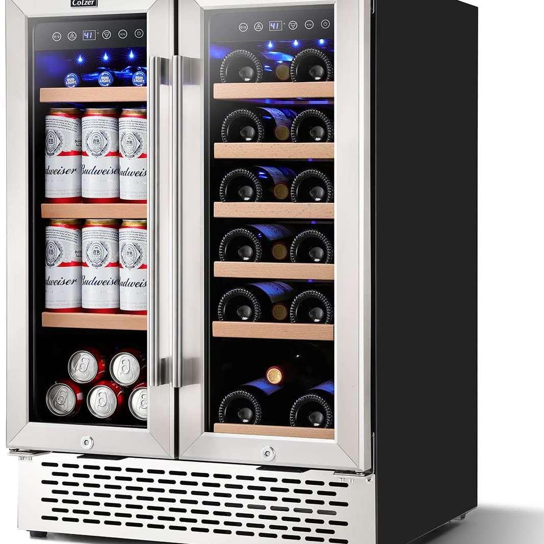 Colzer 24 Inch Beverage and Wine Cooler