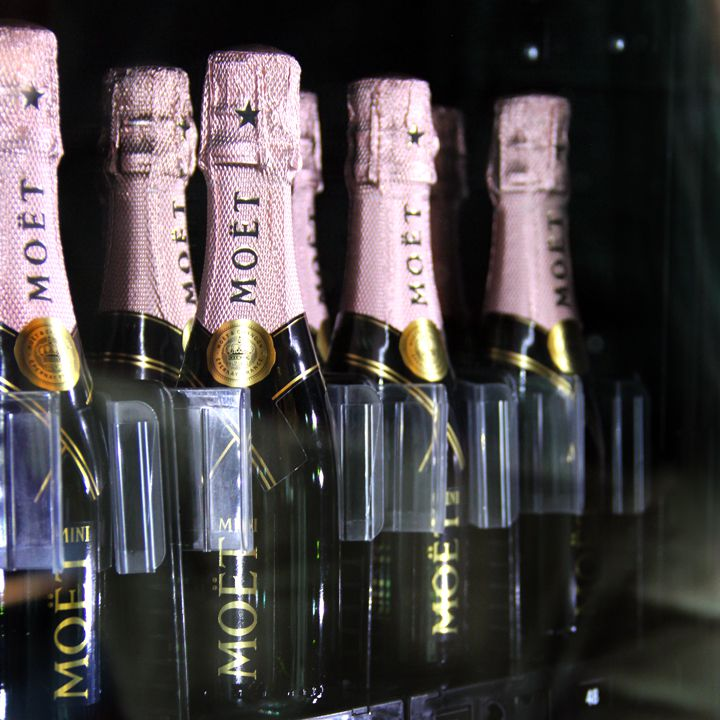 Moët & Chandon Champagne vending machine at The Crack Shack in Los Angeles