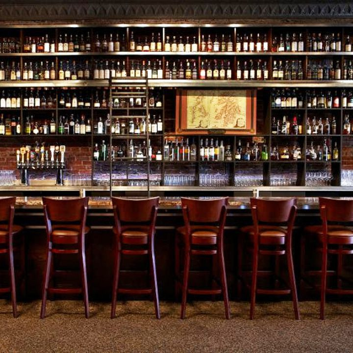 Jack Rose Dining Saloon backbar in Washington, D.C.