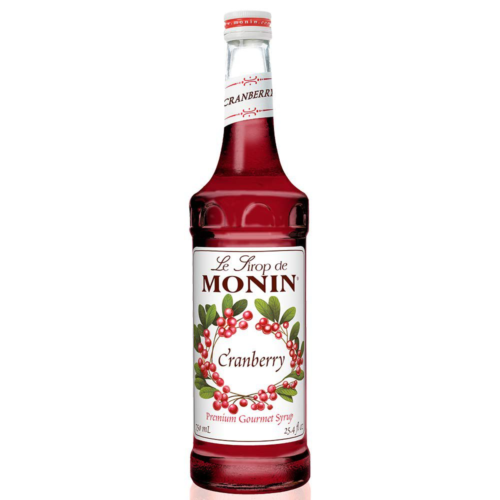 Monin - Cranberry Syrup, Tangy and Sweet Berry Flavor