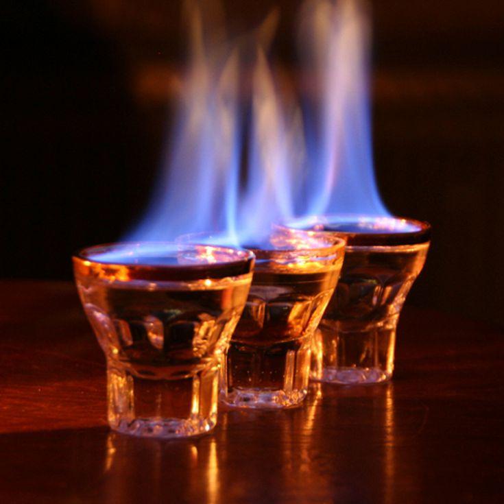 Flaming Dr Pepper Shot