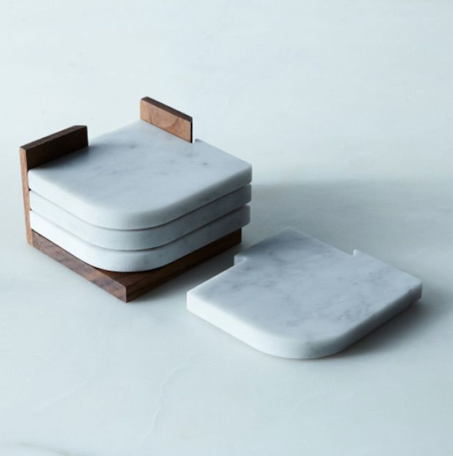 Carrara Marble Coasters