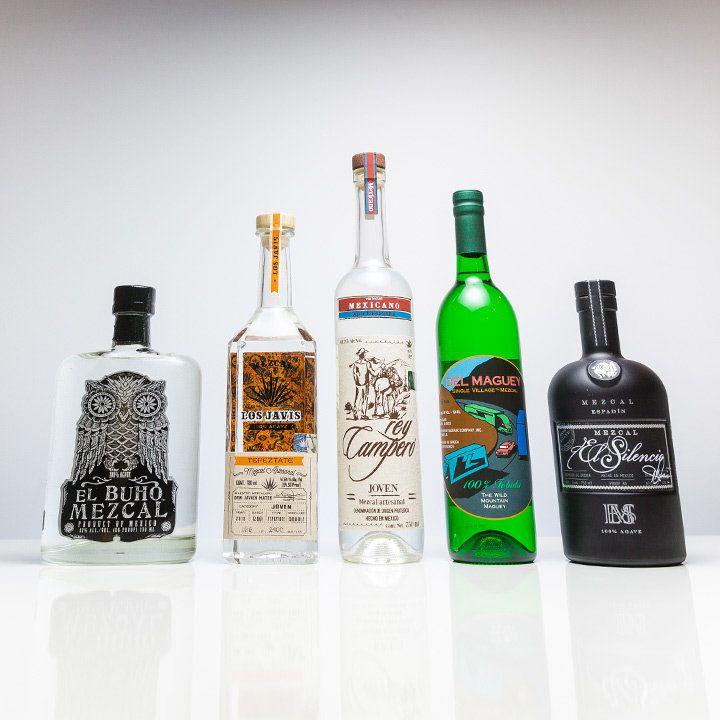 essential mezcal bottles